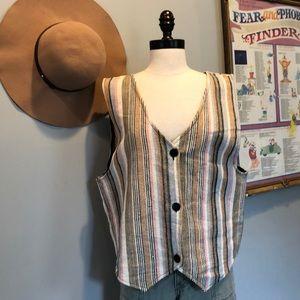 Vintage Three Button Pastel Vest